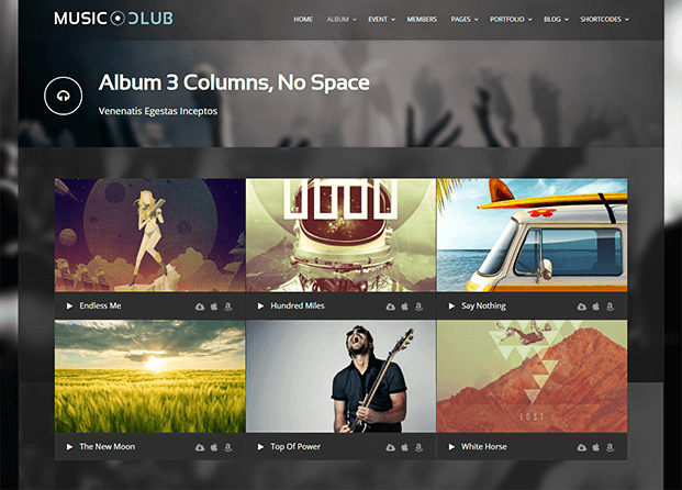 Album - Music Club WordPress Theme