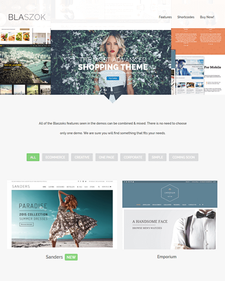 Blaszok - eCommerce Theme For WordPress