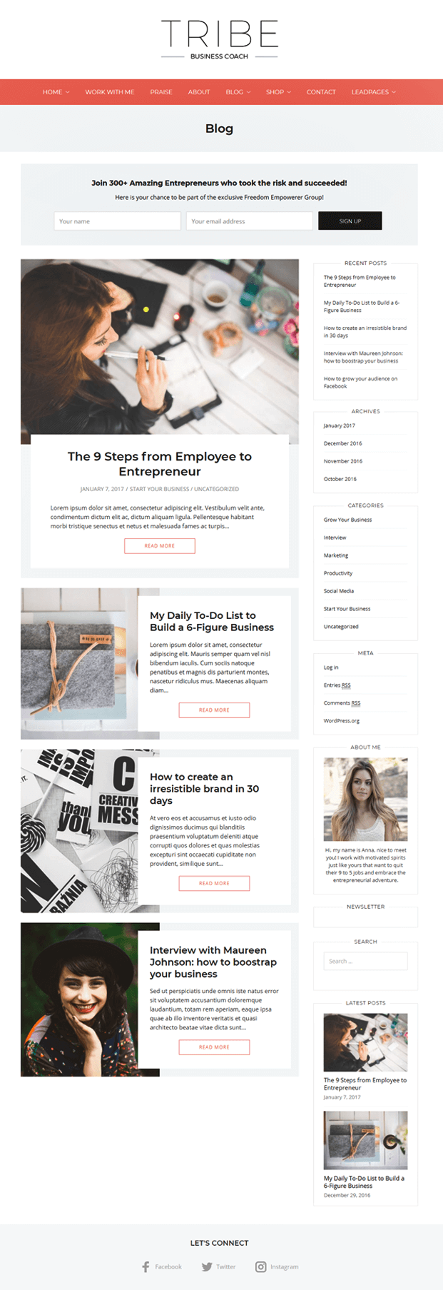 Blog - WordPress Coaching Theme