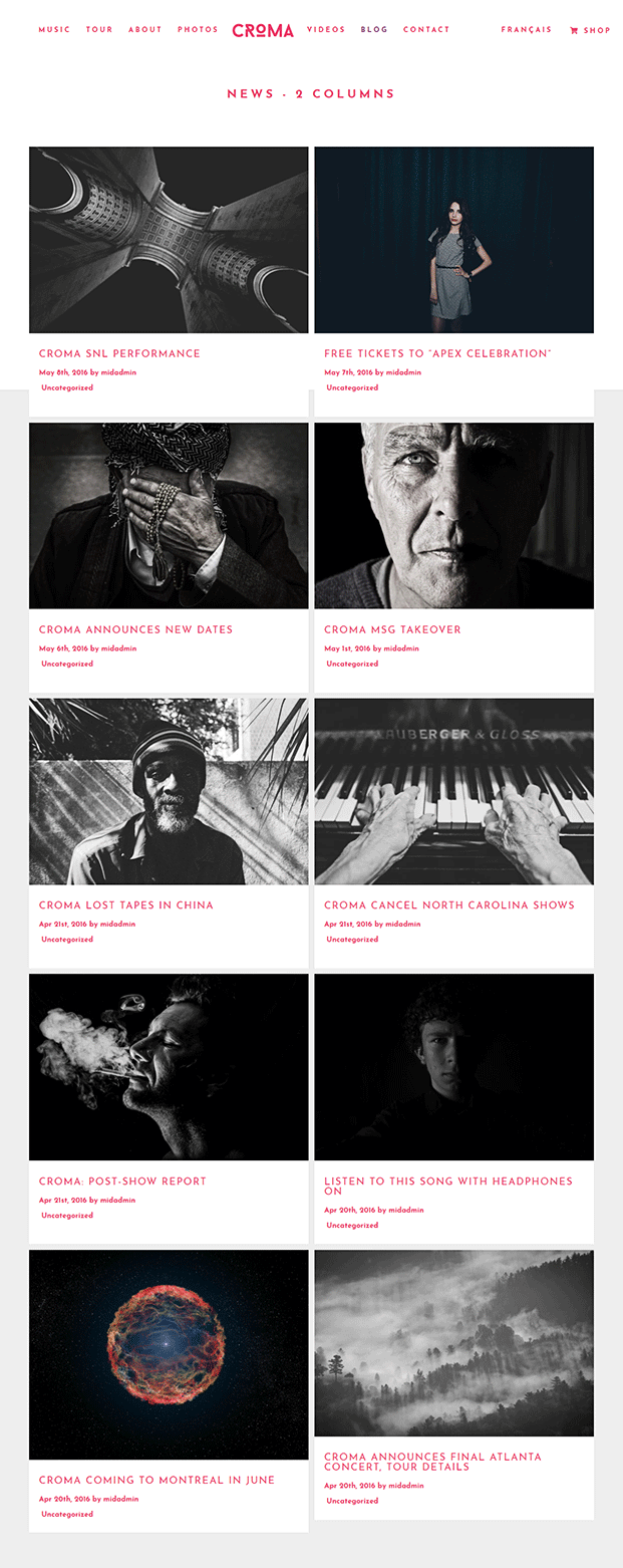 Blog - Band WordPress Theme