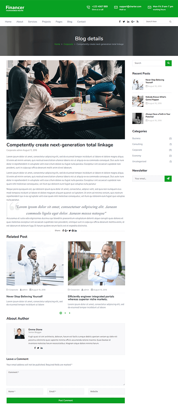 Blog - WordPress Theme For Finance