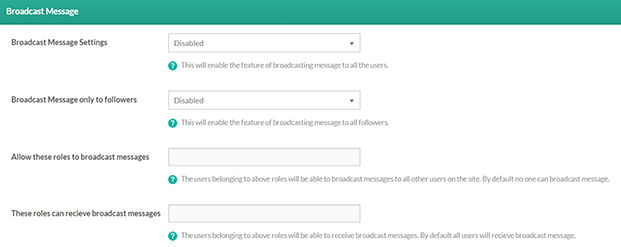 Broadcast Message-Private Message WordPress Plugin
