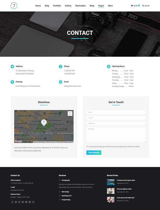 Contact - Best WordPress Template