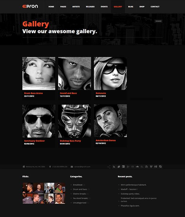 Gallery - Best Music WordPress Theme