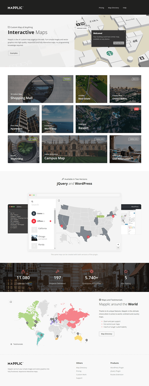 Home WordPress Interactive Map Plugin
