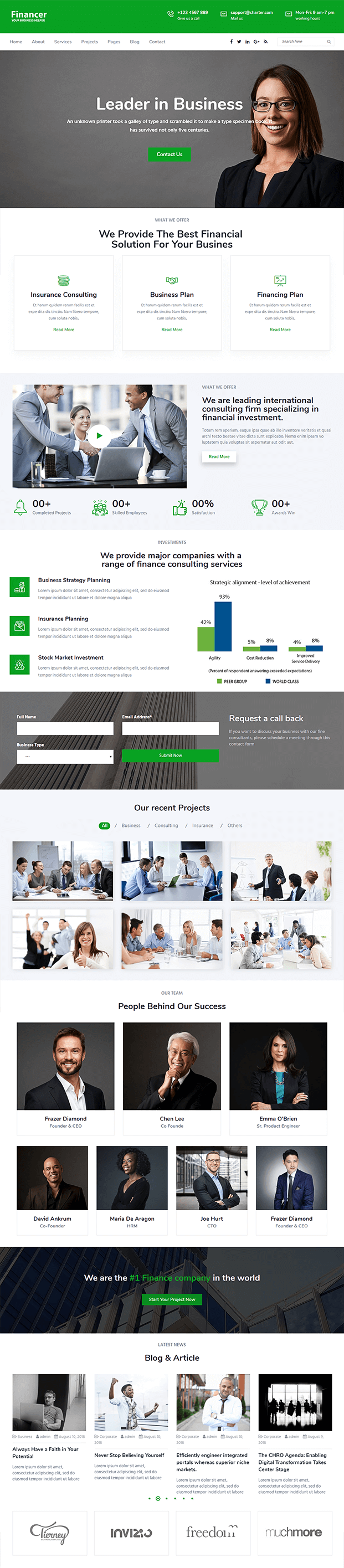Home - WordPress Theme For Finance