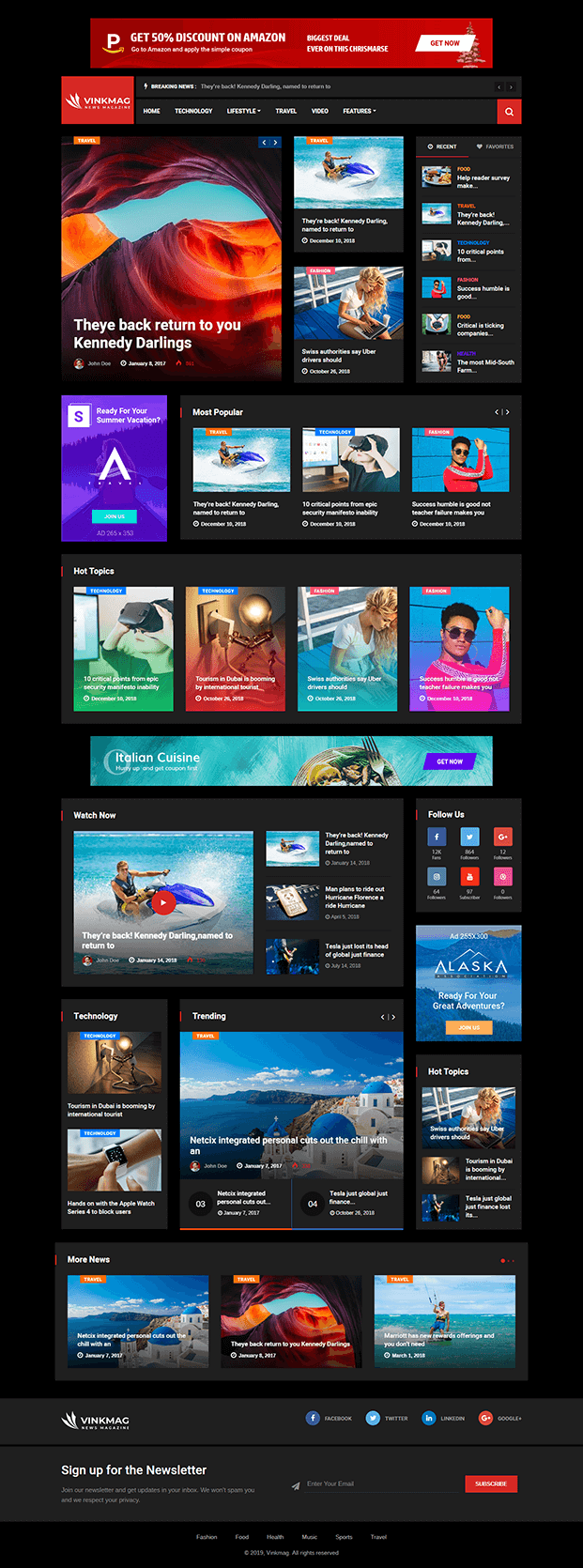 Home - News WP theme