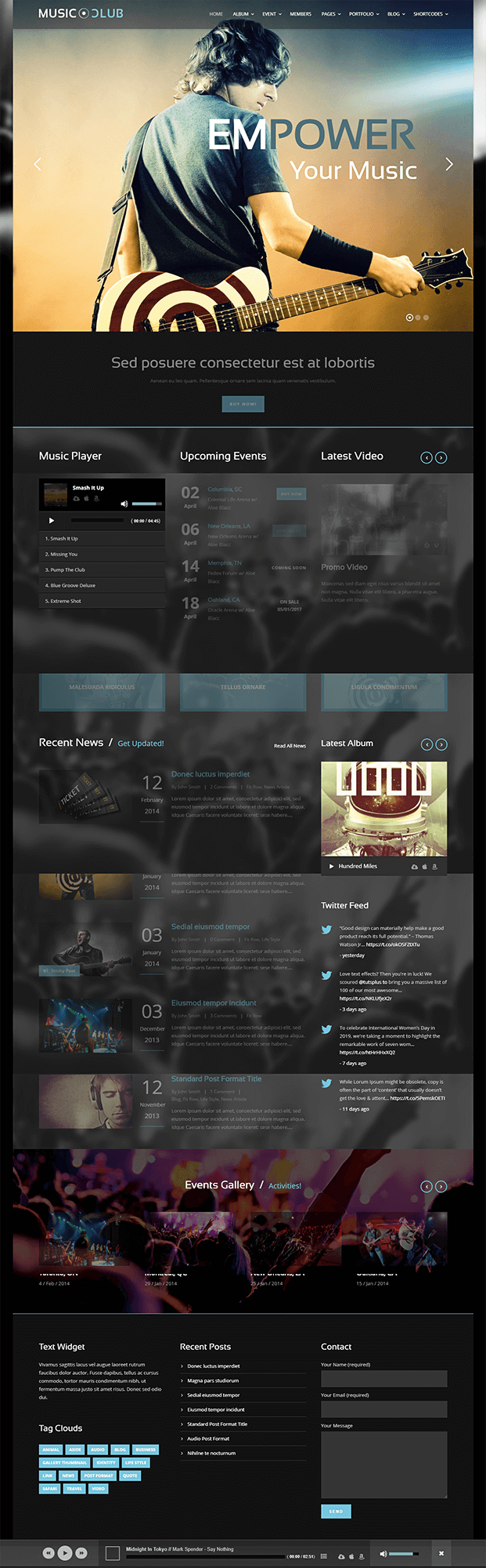 Home - Music Club WordPress Theme
