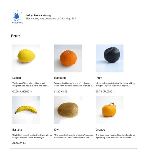 Product Catalog WordPress Plugin - Juicy Store Catalog