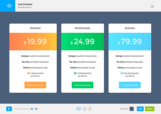 Live Preview-WordPress Pricing Tables Plugin