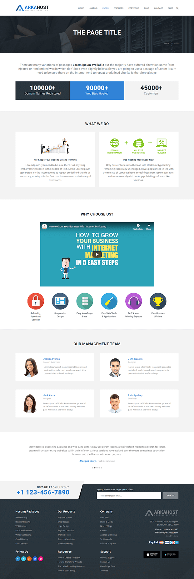 About Us - Best WordPress Hosting Theme