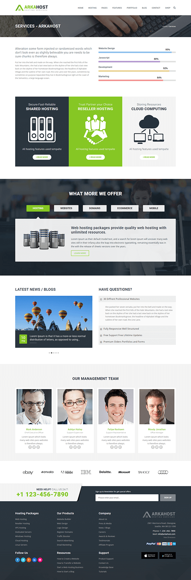 Page Service - Best WordPress Hosting Theme
