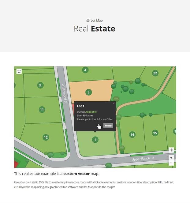 Real Estate WordPress Interactive Map Plugin