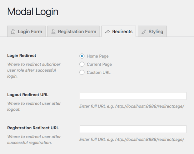Login Redirect