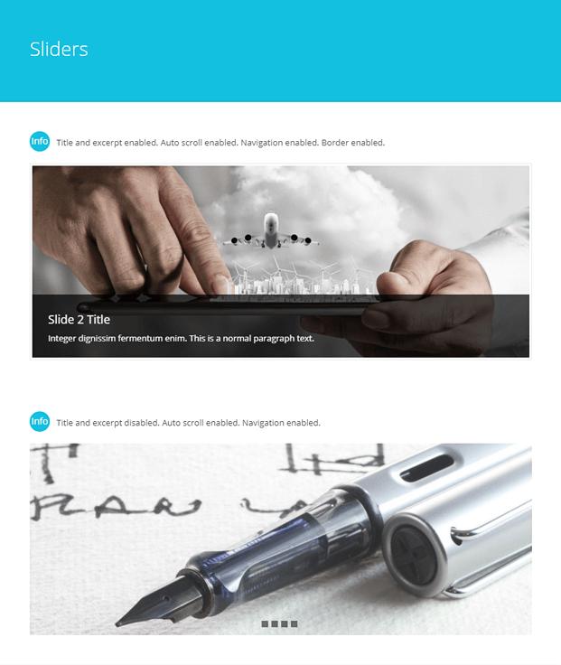 Sliders-WordPress Blog Design Plugin