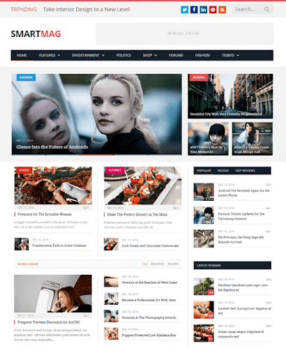 WordPress Magazine Template