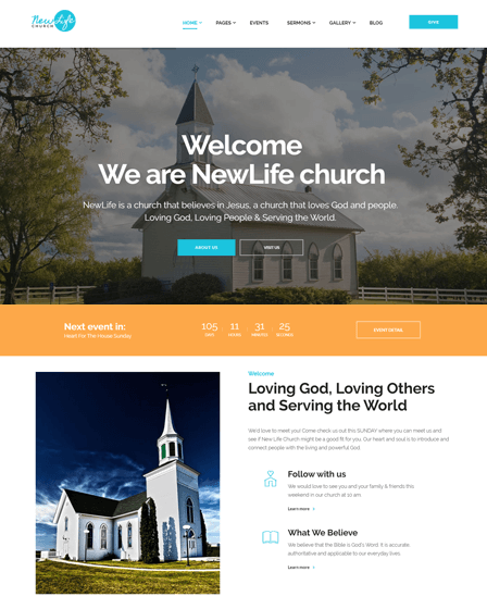 WordPress Spiritual Theme