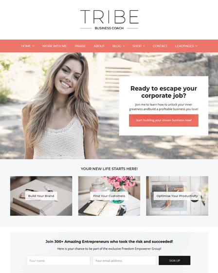 WordPress Coaching Theme