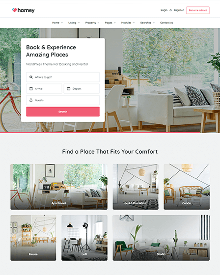 Online Booking WordPress Theme