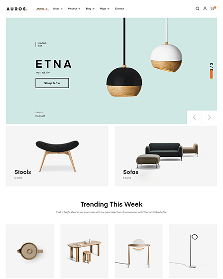 WordPress Theme For Furniture Store