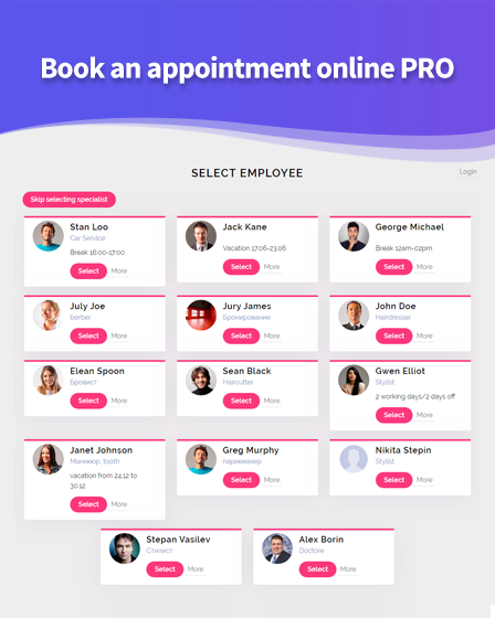 Book An Appointment Online PRO Plugin For WordPress
