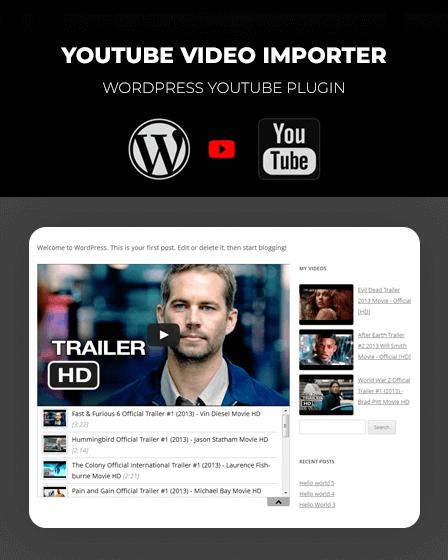 YouTube Video Importer - WordPress YouTube Plugin | InkThemes