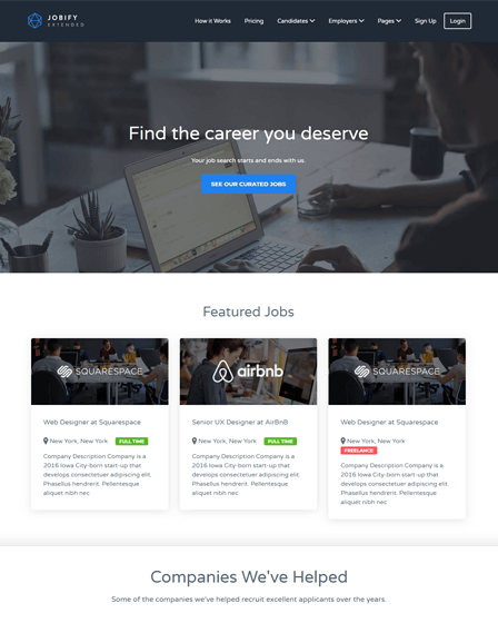 WordPress Theme Job Board