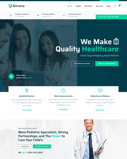 brivona-responsive-wordpress-theme-for-hospitals