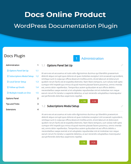 WordPress Documentation Plugin