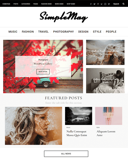 WordPress Online Magazine Theme