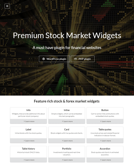 Stock & Forex Market WordPress Plugin