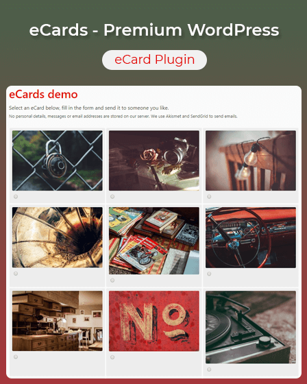 WordPress eCard Plugin