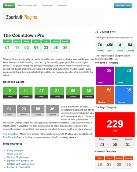 Countdown WordPress Plugin