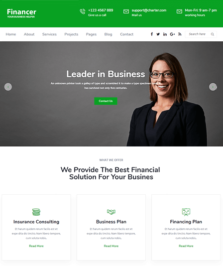 WordPress Theme For Finance