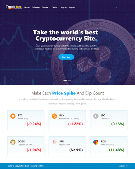 Tradebox - CryptoCurrency Trading PHP Script