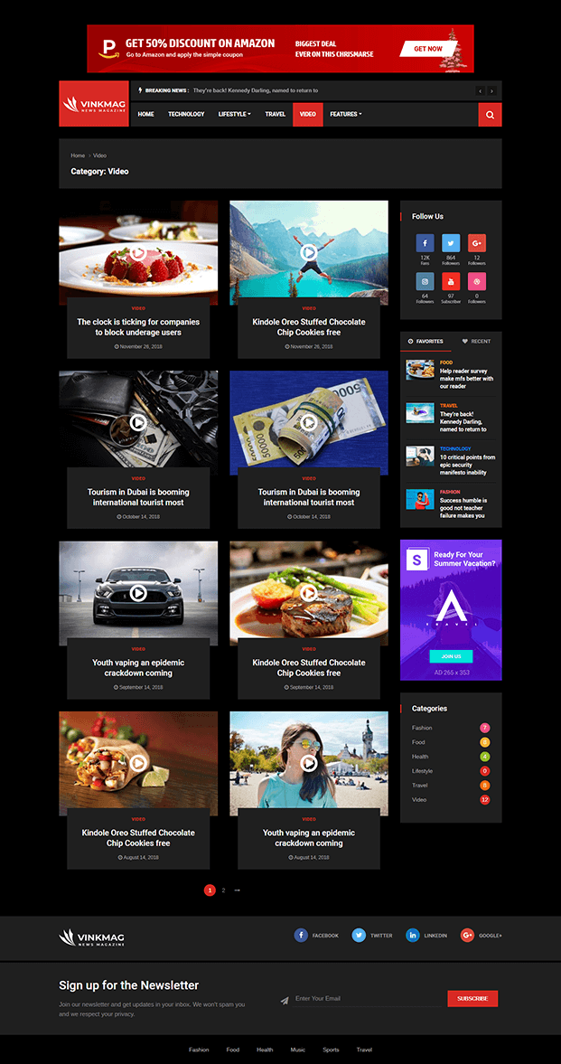 Video - News WP theme