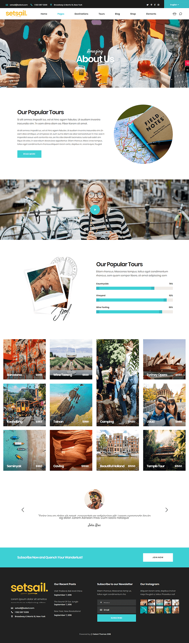 About - WordPress Travel Agency Theme
