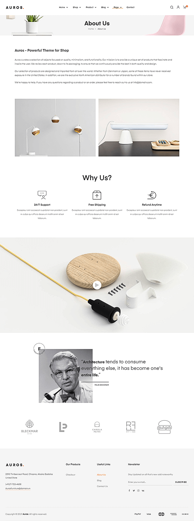 About - WordPress Theme For Furniture Store