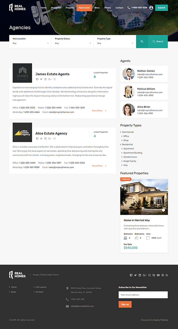 Agency - WP Real Estate Theme