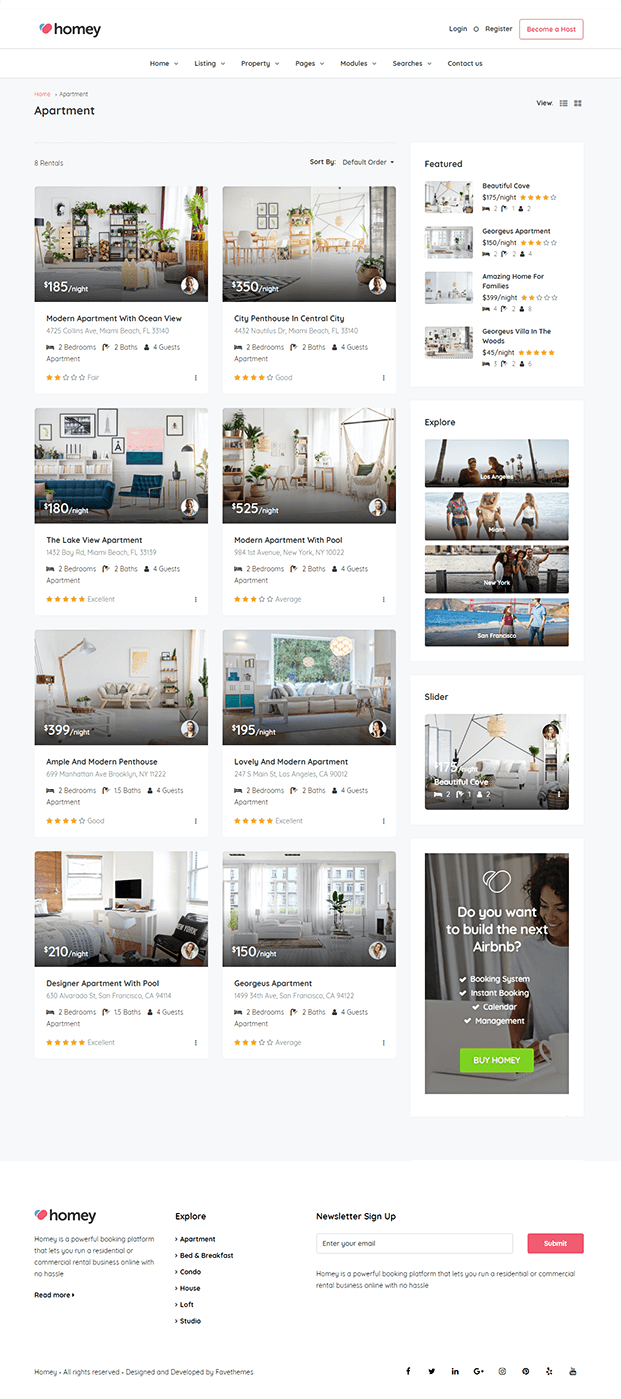 Apartment - Online Booking WordPress Theme
