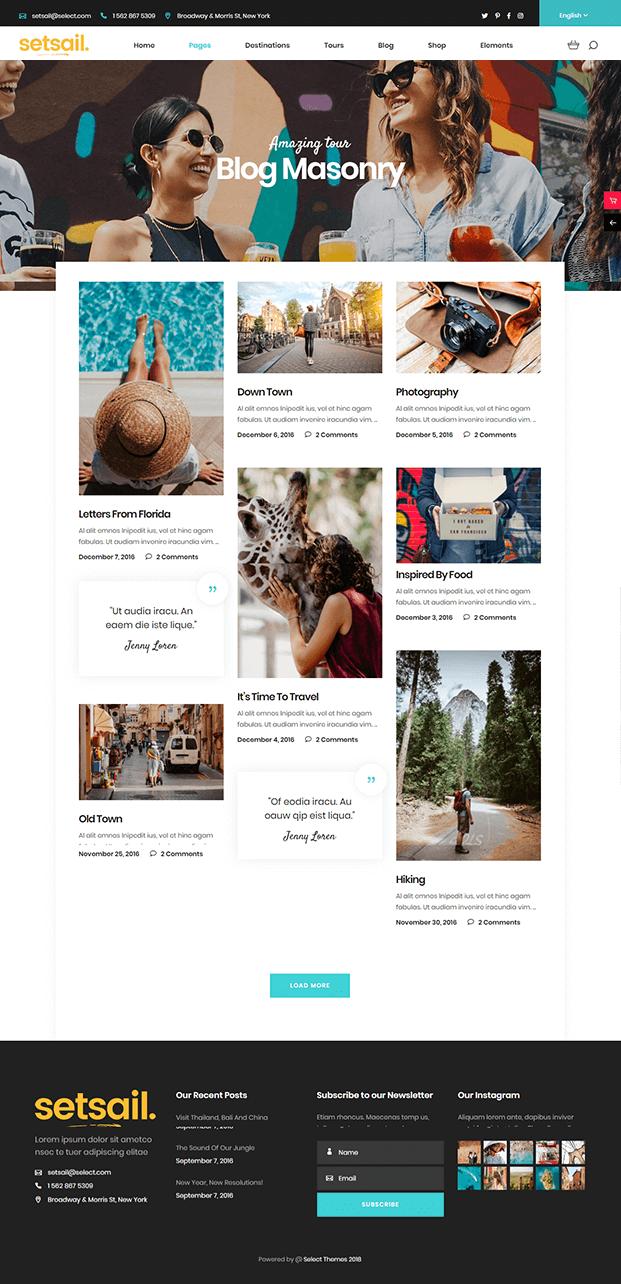 Blog - WordPress Travel Agency Theme