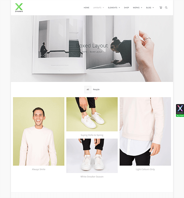 Layout - WordPress Corporate theme
