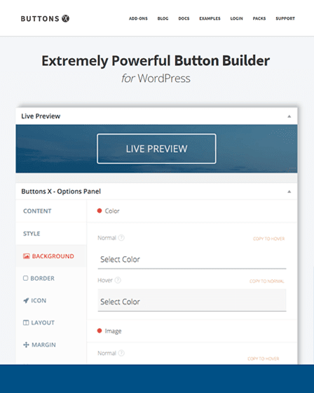 Button X WordPress Plugin