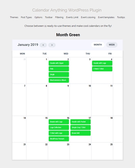 Calendar WordPress Plugin