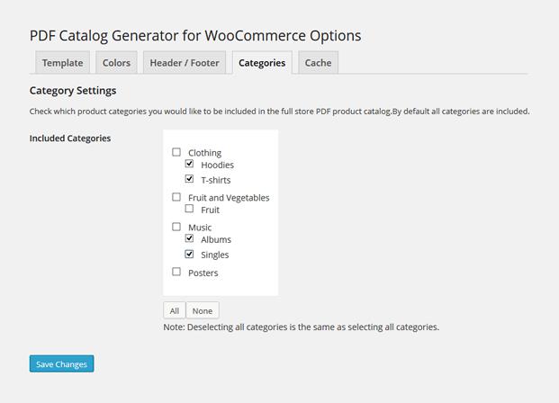 Product Catalog WordPress Plugin - Product Categories