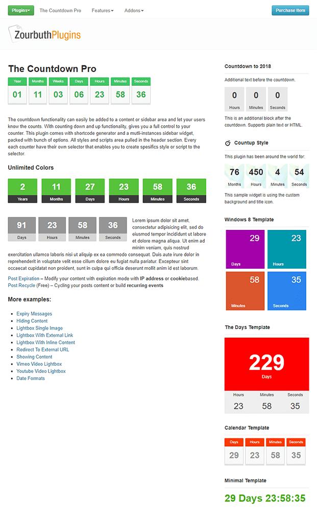 Countdown WordPress Plugin - Home