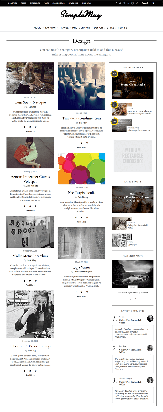 Design - WordPress Online Magazine Theme