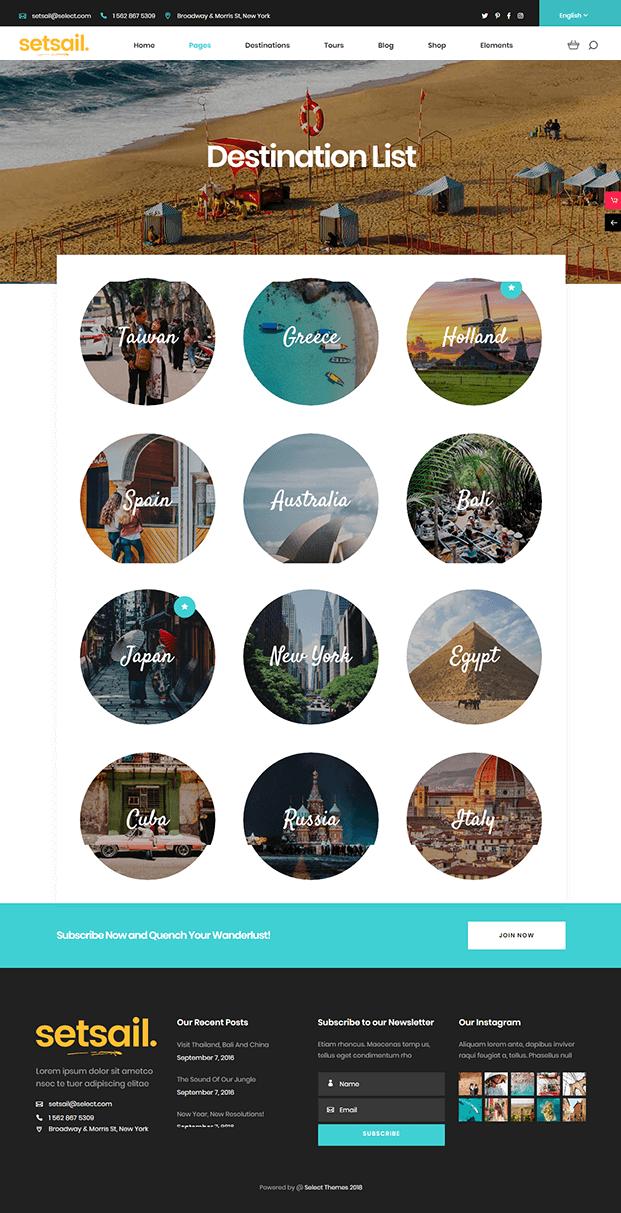 Destination - WordPress Travel Agency Theme