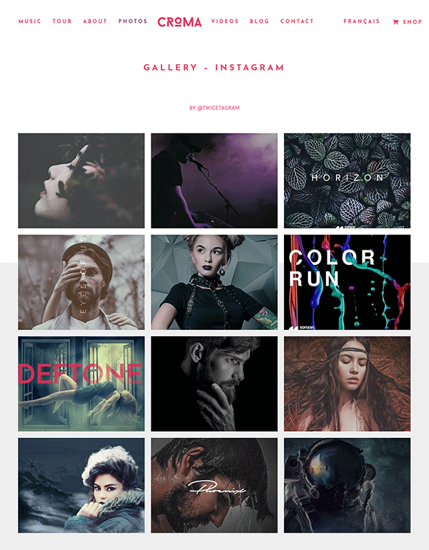 Gallery - Band WordPress Theme