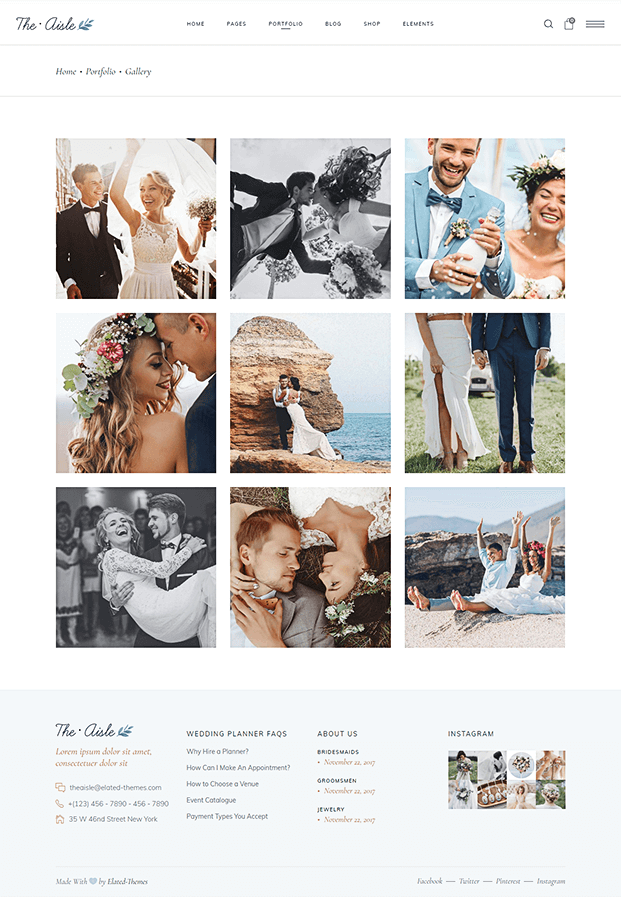 Gallery - Wedding WP Theme